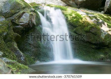 Waterfall in Shenandoah National Park - stock photo