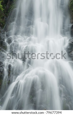 Waterfall in south of Thailand - stock photo