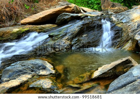 Waterfall in thailand. - stock photo