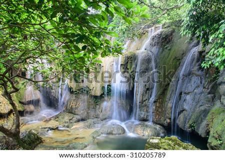 Waterfall in Thanh Hoa, Vietnam