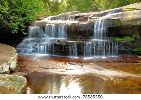 Waterfall in the jungle,Loei,Thailand - stock photo