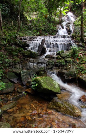 Waterfall in the national park thailand - stock photo
