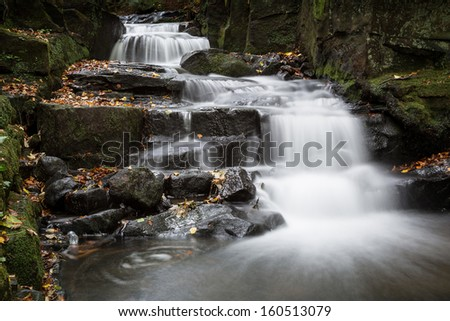 Waterfall In The Uk Derbyshire