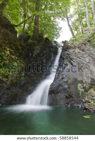 Waterfall in tropical jungle