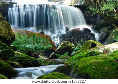 Waterfall is a place that will make you relax and fresh.In Thailand - stock photo