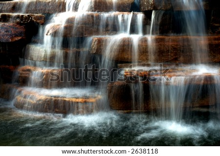 Waterfall landscape in early morning.