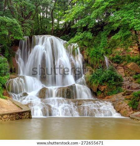 Waterfall Lucky, Slovakia - stock photo