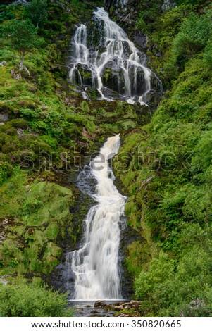 Waterfall Maghera,County Donegal, Ireland - stock photo