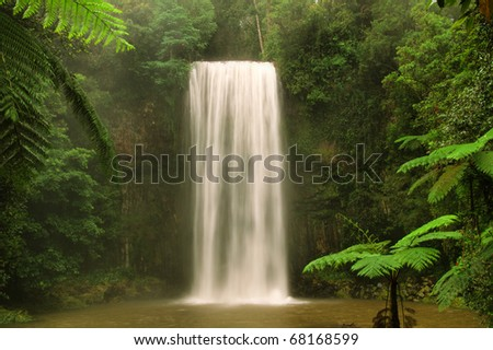 Waterfall, Milla Milla, Queensland, Australia - stock photo