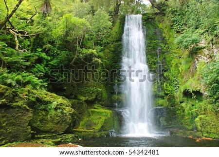 Waterfall, New Zealand - stock photo
