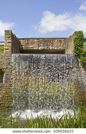 Waterfall, Newstead Abbey, Nottingham, UK