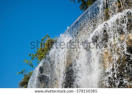 Waterfall of Castle Hill. Nice, France - stock photo