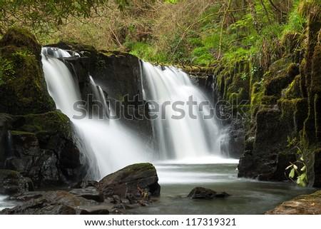 Waterfall of Clare Glens, Ireland - stock photo