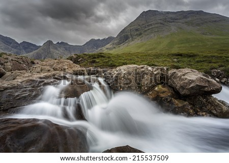 Waterfall on the Isle of Skye, Scotland - stock photo