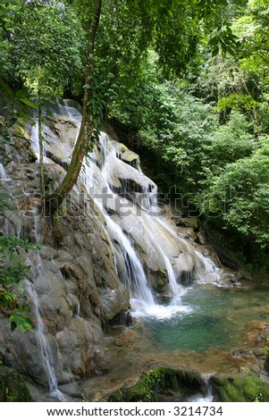 Waterfall. Palenque. Mexico.