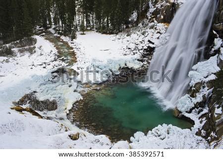 waterfall pool - stock photo