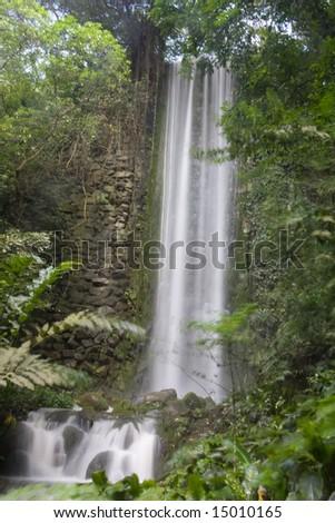 Waterfall Singapore - stock photo