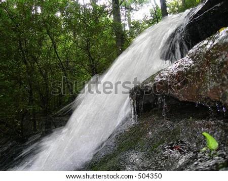 Waterfall Table Rock - stock photo