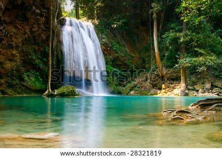 Waterfall Thailand - stock photo