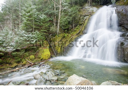 waterfall, Vermont, USA - stock photo
