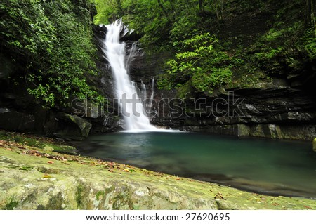 Waterfall with trees