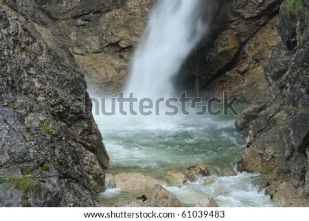 waterfall within mountain in Germany
