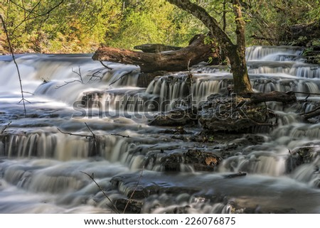 Waterfalls At Burgess State Park In Tennessee - stock photo