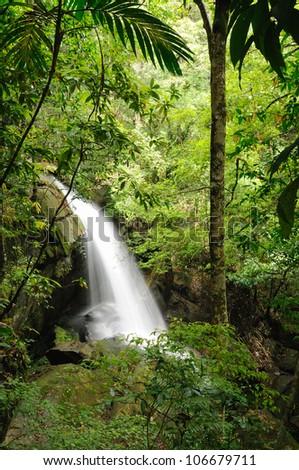 Waterfalls, caves, large Phukradueng.thailan d - stock photo
