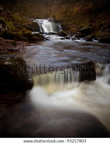 Waterfalls in Autumn - stock photo
