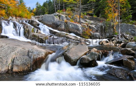Waterfalls near Jackson, New Hampshire, USA - stock photo