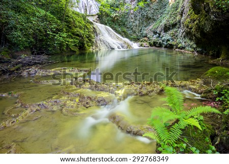 Waterfalls of Corraladas river, Alava (Spain)  - stock photo