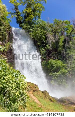 Waterfalls of Edessa, Greece - stock photo