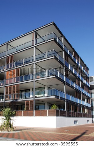 Waterfront apartment in Auckland, New Zealand - stock photo