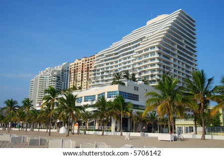 Waterfront apartments in Florida - stock photo
