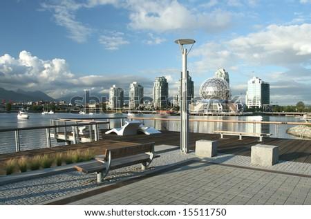 Waterfront Cityscape - stock photo