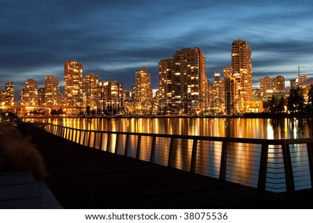 Waterfront Condominiums - stock photo
