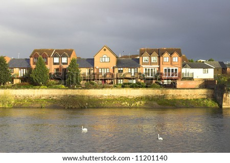 Waterfront Houses - stock photo