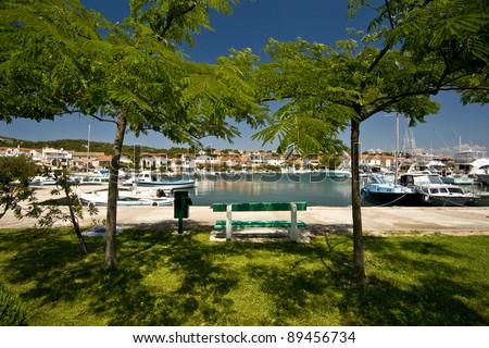 Waterfront in Jezera - stock photo