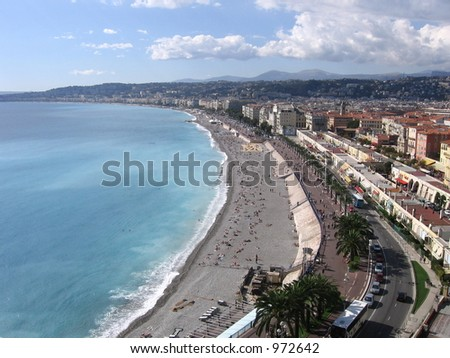 Waterfront of Nice, France