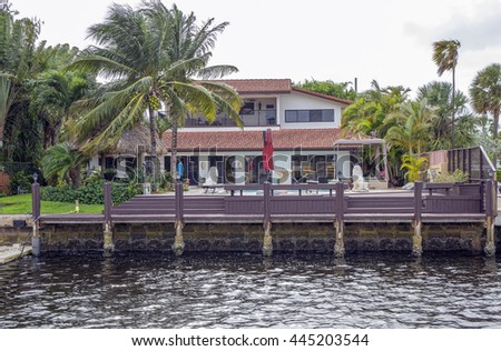 waterfront real estate fort lauderdale florida stock photo 445203544