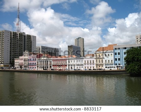 Waterfront Recife Brazil - stock photo