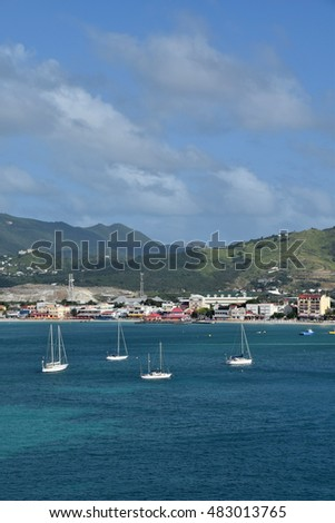 Waterfront scenery from St Thomas, US Virgin Islands near Charlotte Amalie