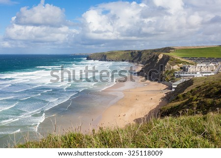 Watergate Bay in Cornwall, England, UK