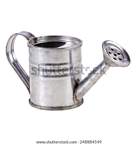 watering can isolated on a white background - stock photo