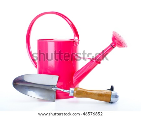watering can. Isolated over white background - stock photo