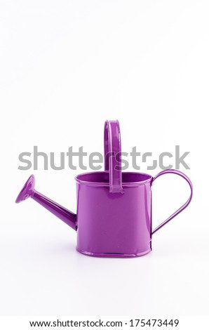 Watering can on isolated white background