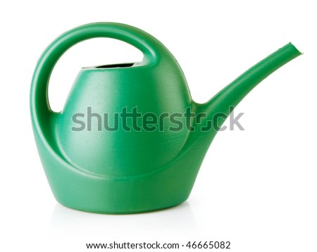 watering-can tool for flowers watering isolated on white background with clipping path included - stock photo