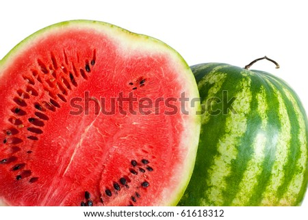watermelon background isolated on white