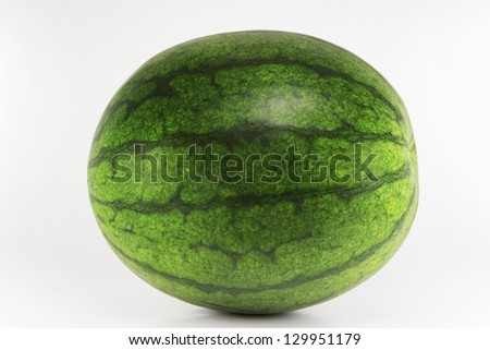 watermelon isolated - stock photo