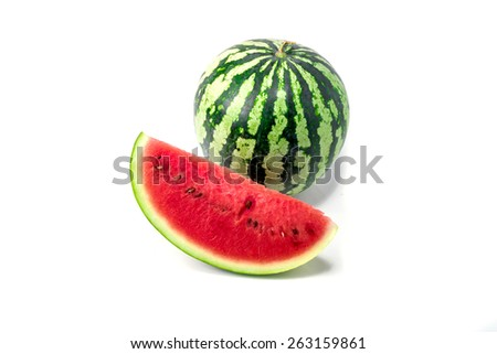Watermelon isolated on a white background - stock photo